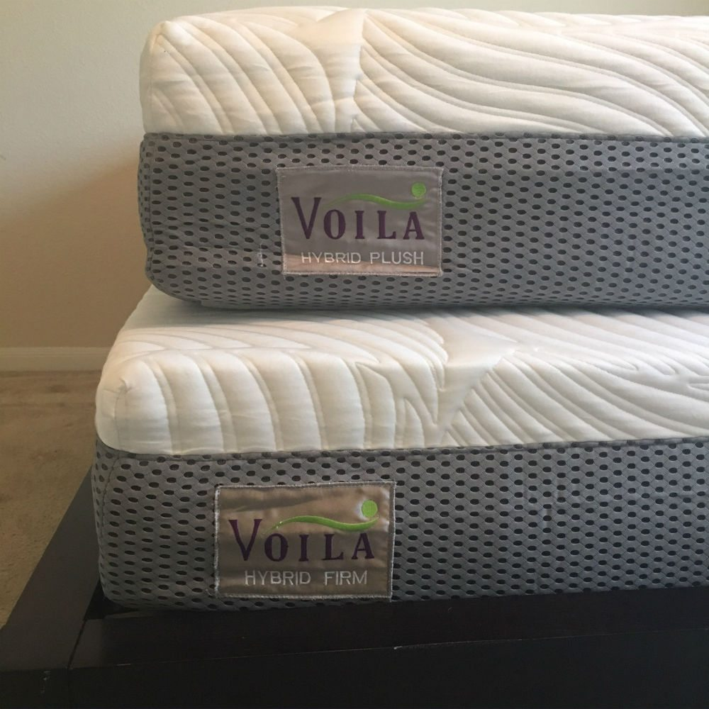 two voila mattresses side by side