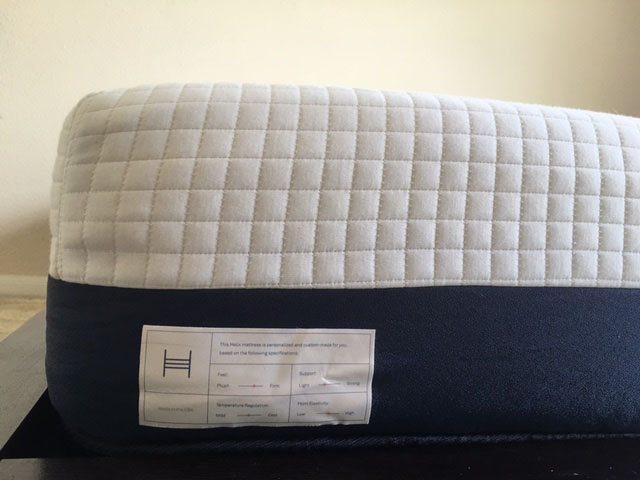 Helix mattress build specs