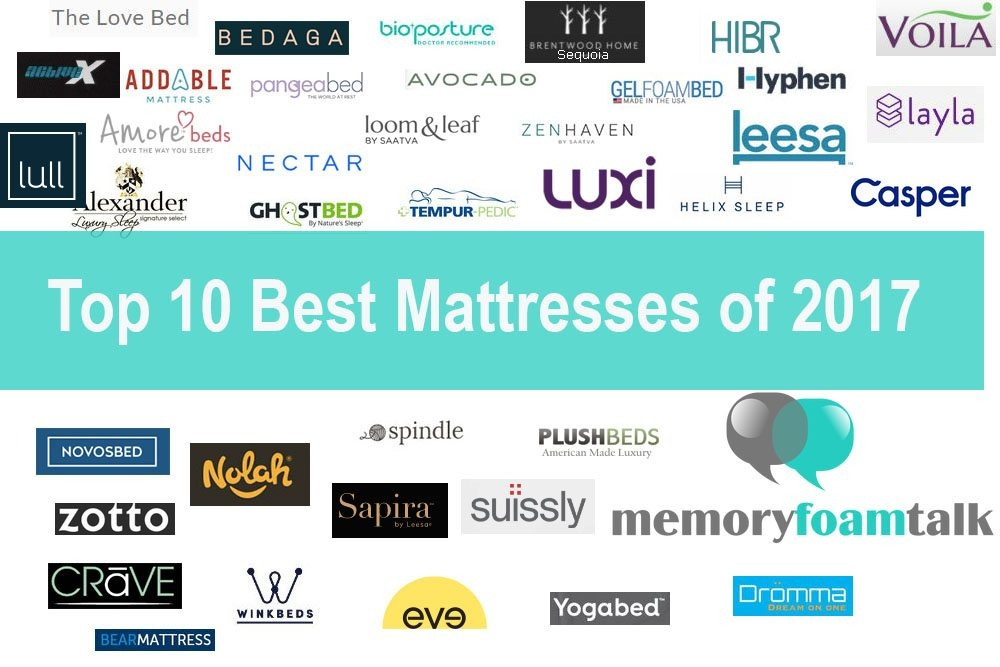 Top 10 Best Mattress Reviews of 2017 What are the Best