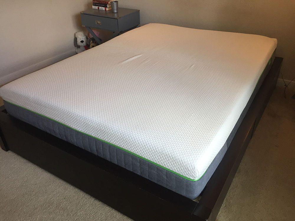 Cariloha mattress, corner view