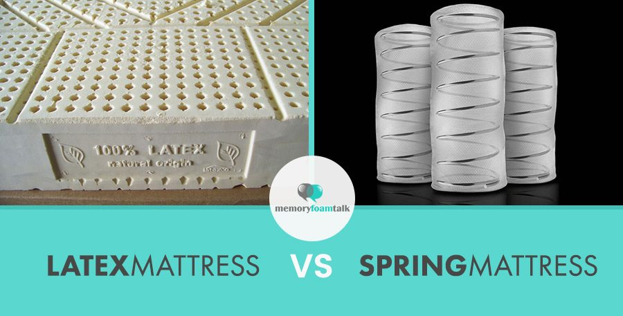 Latex Mattress vs. Spring Mattress  Memory Foam Talk