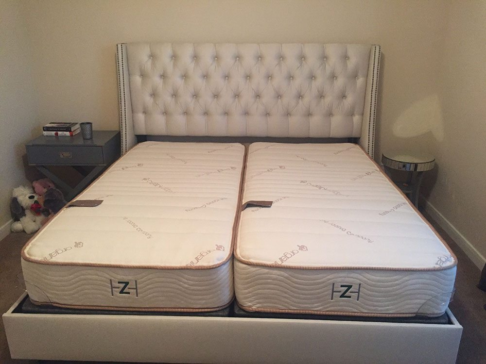 Zenhaven mattress, split king