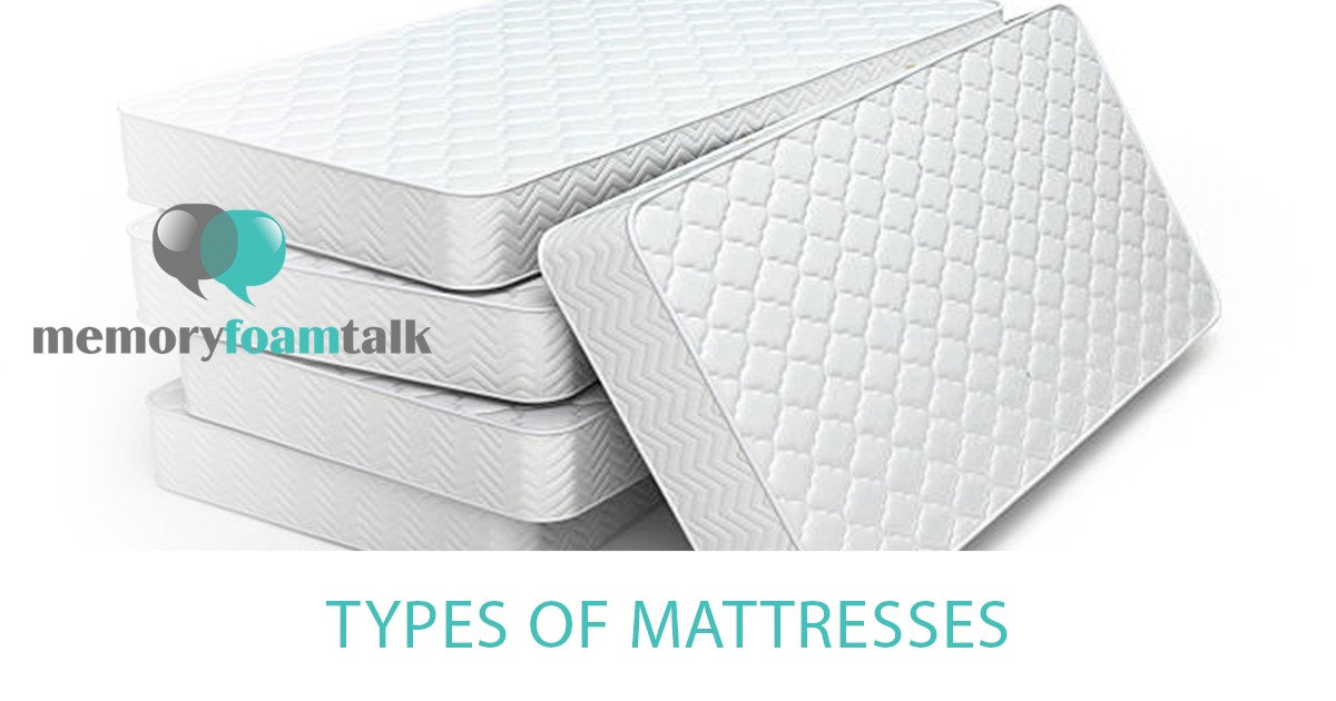 Types Of Mattresses >> Types Of Mattresses Memory Foam Talk