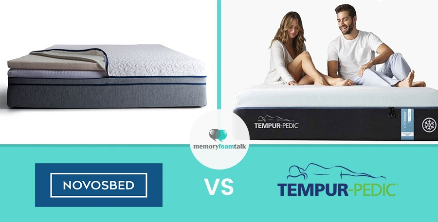 novosbed vs tempur pedic memory foam talk. Black Bedroom Furniture Sets. Home Design Ideas