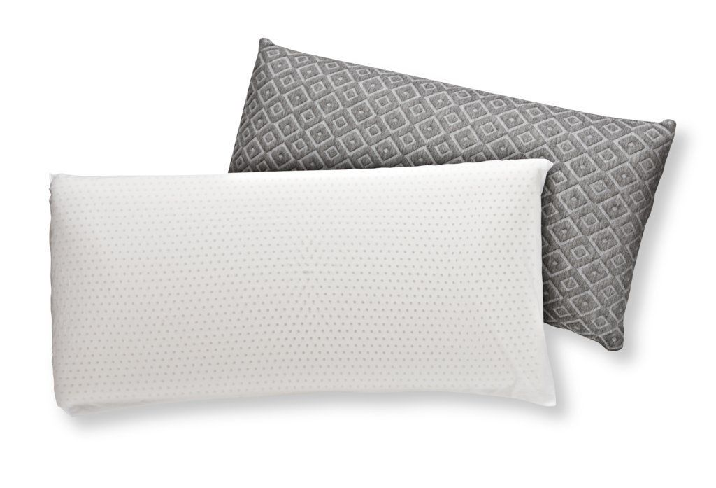 Brooklyn Bedding latex pillow with and without cover