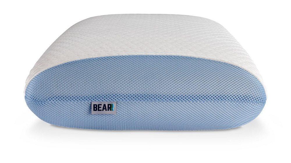 Bear pillow side view