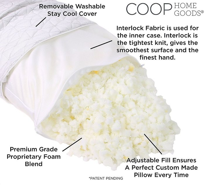 Coop Home Goods pillow construction