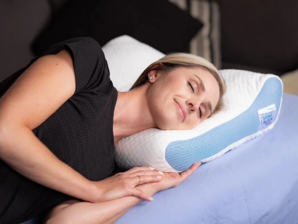 SpineAlign Pillow - side sleeping