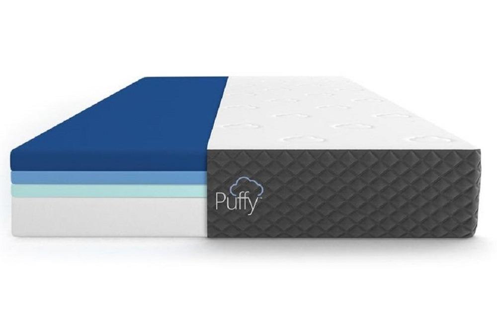 Puffy Lux mattress layers