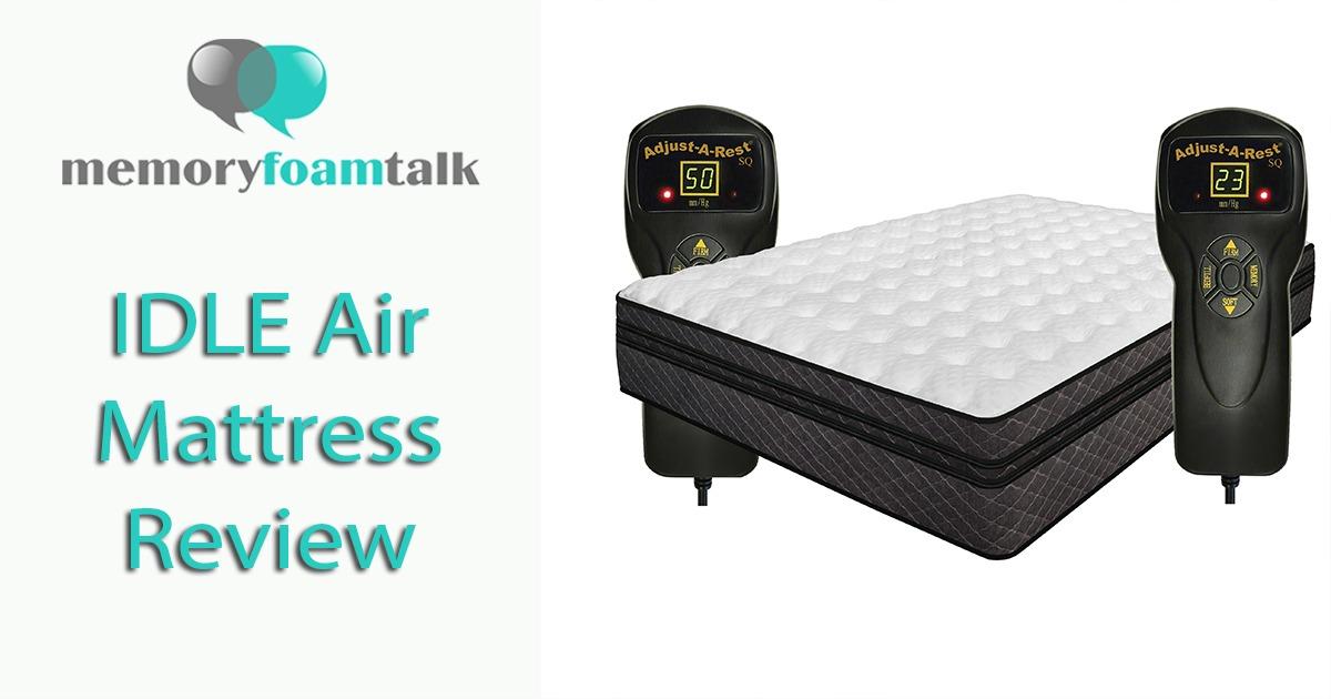 Idle Air Mattress Review 2019 Idle Sleep Memory Foam