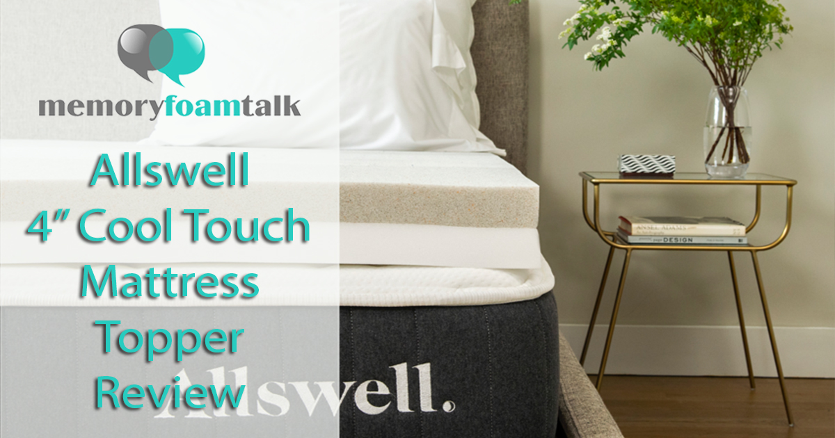 Allswell 4 Quot Cooltouch Mattress Topper Review Memory Foam