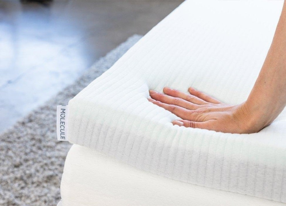 Molecule Triple Zone mattress topper - firmness and comfort