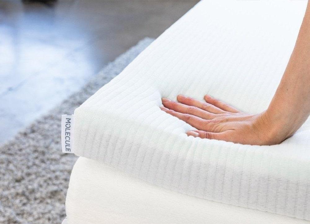 Molecule Triple Zone mattress topper - firmness and comfort