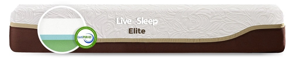 Live and Sleep Elite mattress layers