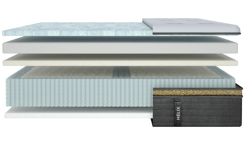 Helix Dawn Luxe mattress layers