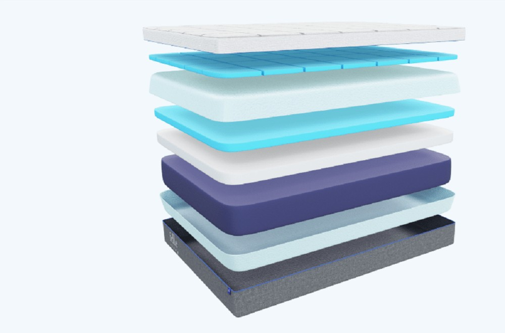 Idle Gel Plush mattress layers