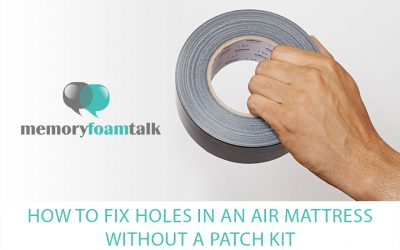 How to Fix Holes in an Air Mattress Without a Patch Kit