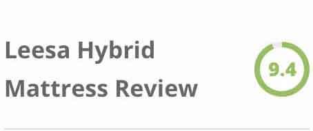 Leesa Hybrid sidebar