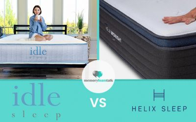 IDLE Sleep Hybrid vs. Helix Midnight Luxe