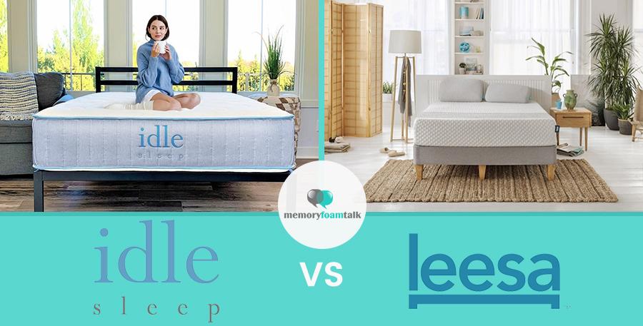 IDLE Sleep Hybrid vs. Leesa Hybrid