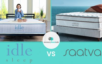 IDLE Sleep Hybrid vs. Saatva