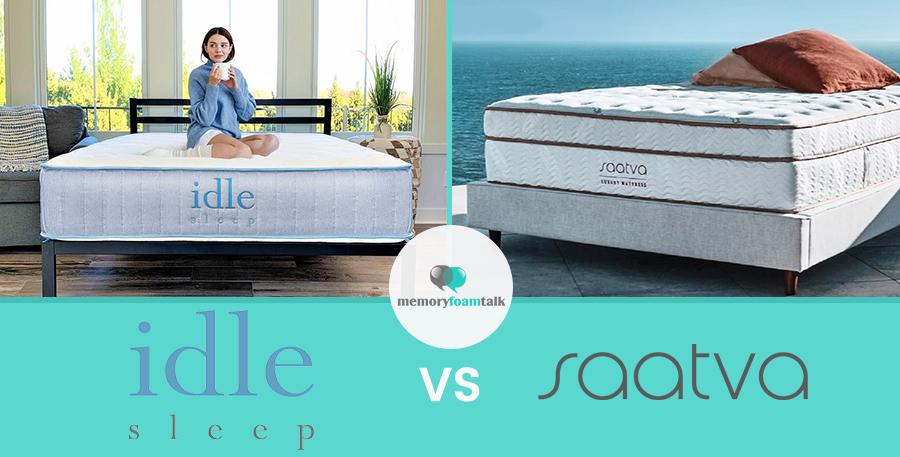 IDLE Sleep Hybrid vs. Saatva