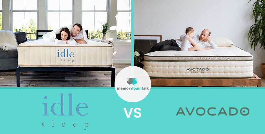 IDLE Sleep Natural Latex Hybrid vs. Avocado