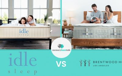 IDLE Sleep Natural Latex Hybrid vs. Brentwood Home Cedar