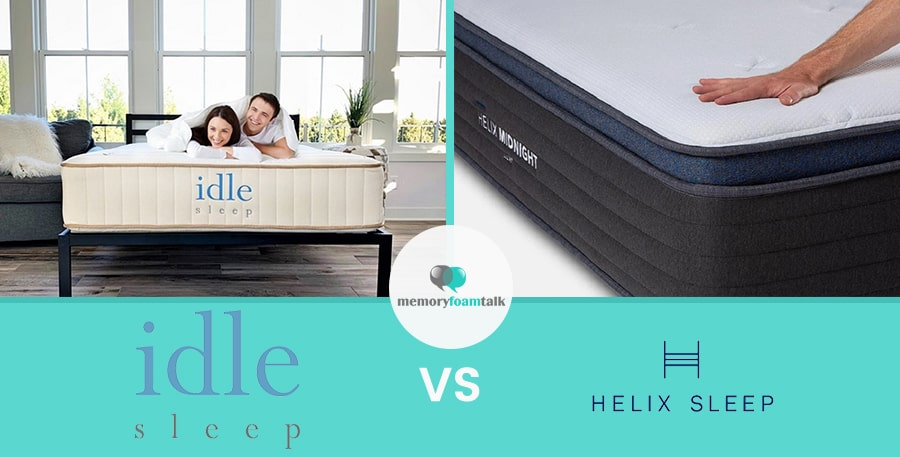 IDLE Sleep Natural Latex Hybrid vs. Helix Midnight Luxe