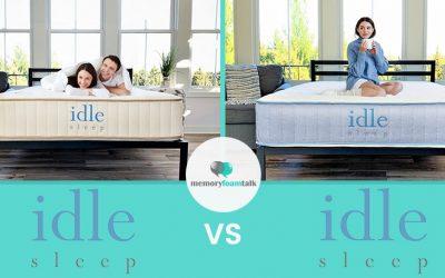 IDLE Sleep Natural Latex Hybrid vs. IDLE Sleep Hybrid