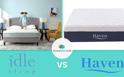 IDLE Sleep Gel Foam vs. Haven Boutique
