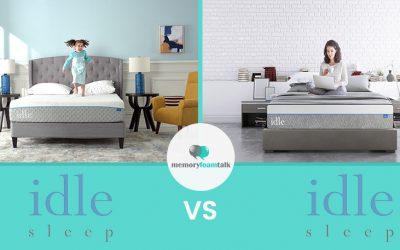 IDLE Sleep Gel Foam vs. IDLE Sleep Gel Plush