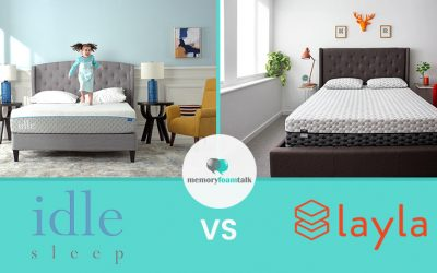 IDLE Sleep Gel Foam vs. Layla