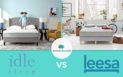 IDLE Sleep Gel Foam vs. Leesa Original