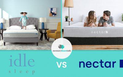IDLE Sleep Gel Foam vs. Nectar