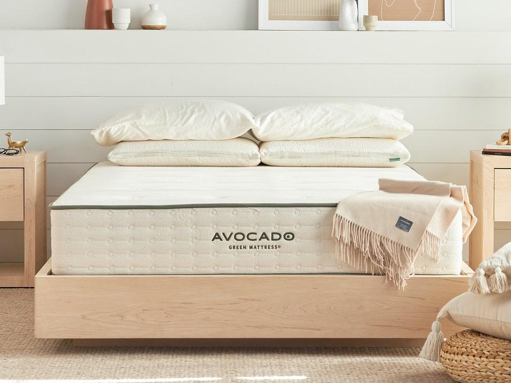 Avocado Malibu Floating Bed Frame