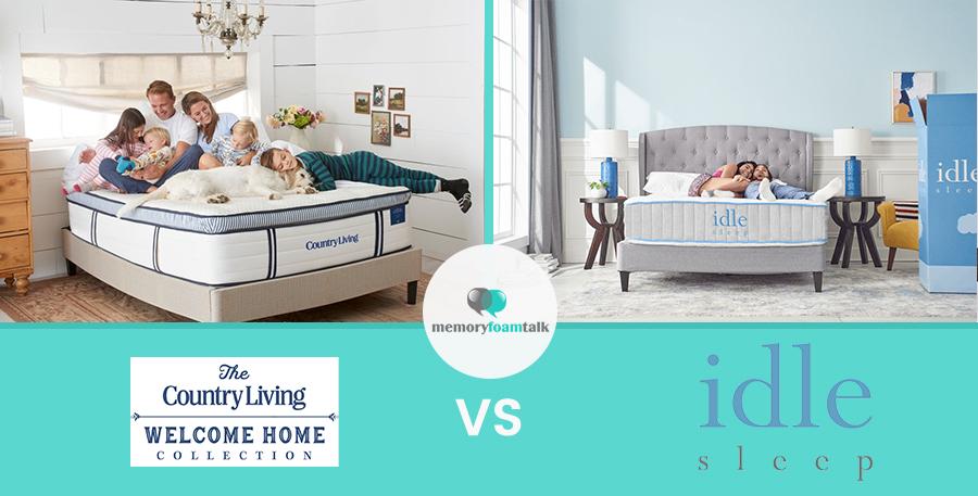 Country Living Napa vs. IDLE Sleep Hybrid