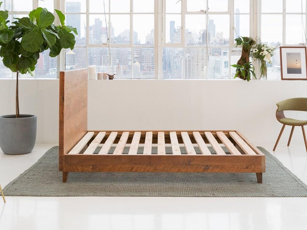 Avocado Natural Wood Bed Frame