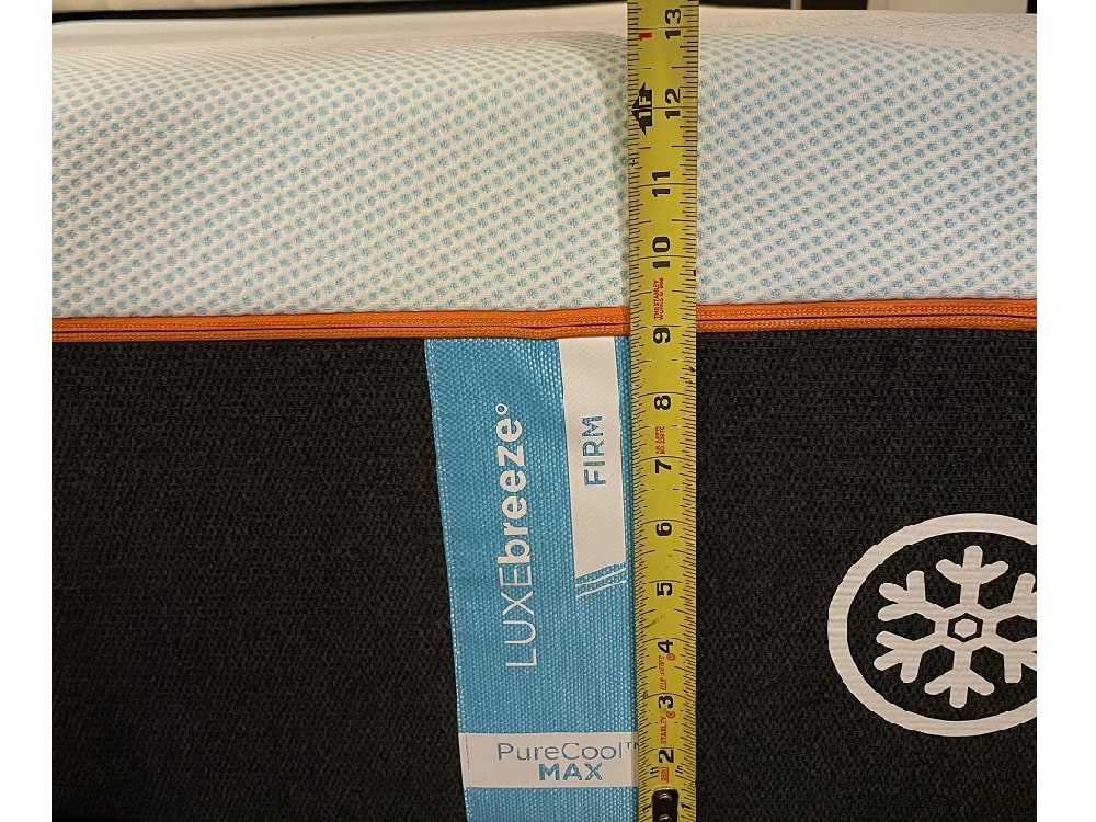 Tempur Luxe Breeze - thickness